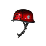 German Shiny Novelty Helmet With Burgundy Boneyard Graphic