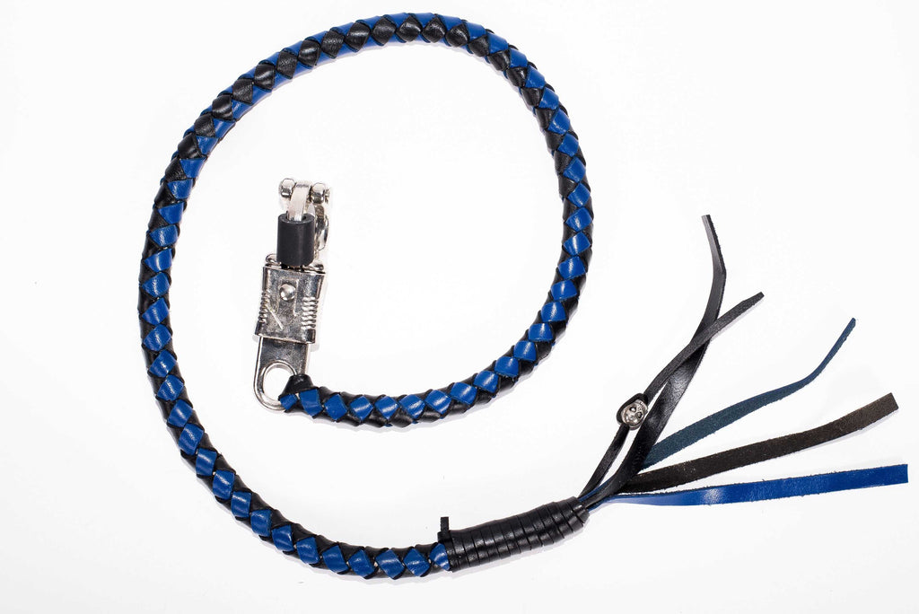 "BLACK & BLUE 40"" LEATHER GET BACK WHIP"