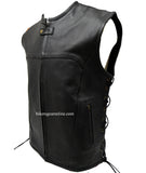 UPDATED TACTICAL SWAT STYLE LEATHER VEST SIDE LACES