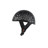 DOT Low Profile Motorcycle Helmet With Skulls Graphic