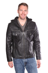 Christian NY Warden Leather Bomber Jacket