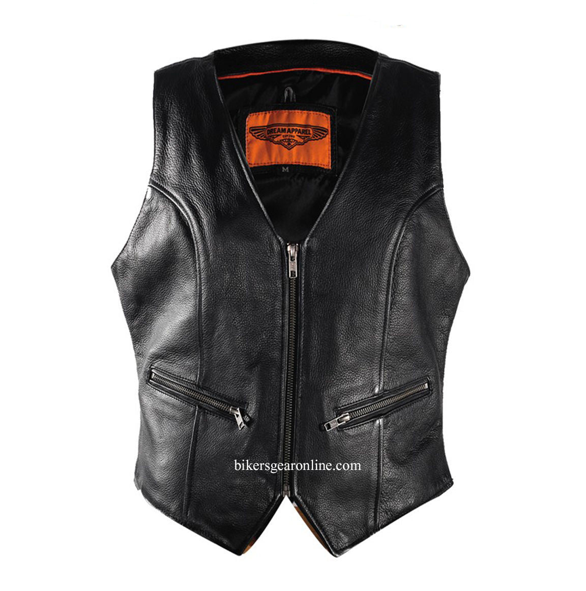 WOMEN'S RIDING SOFT LEATHER VEST W/ BACK LACES