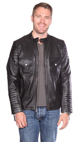 Christian NY Flynn Leather Quilted Jacket