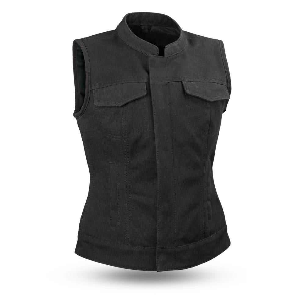 LADIES CANVAS VEST - LUDLOW