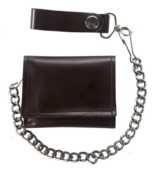Biker Tri Fold Motorcycle Chain Wallet