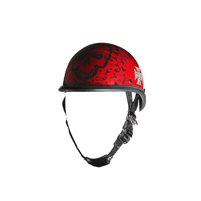 Jockey Shiny Novelty Helmet With Burgundy Boneyard Graphic