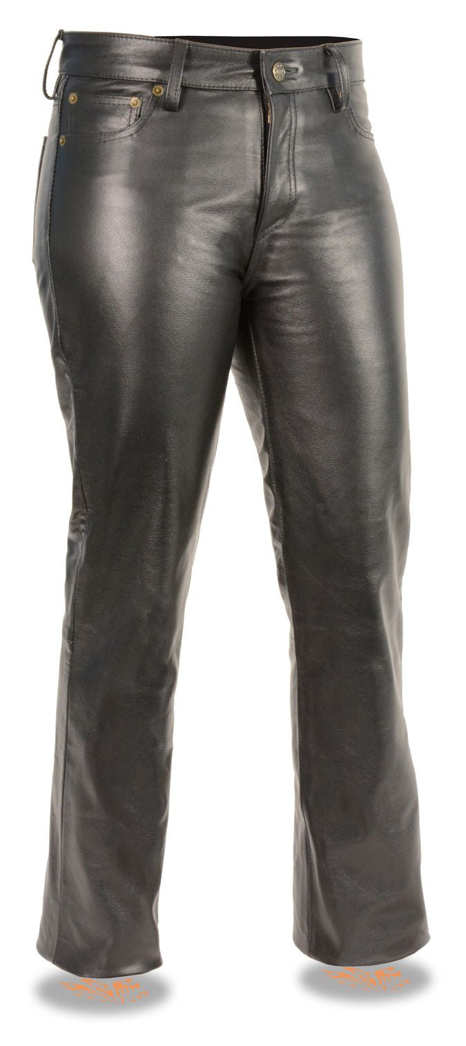 Ladies Classic 5 Pocket Leather Pants
