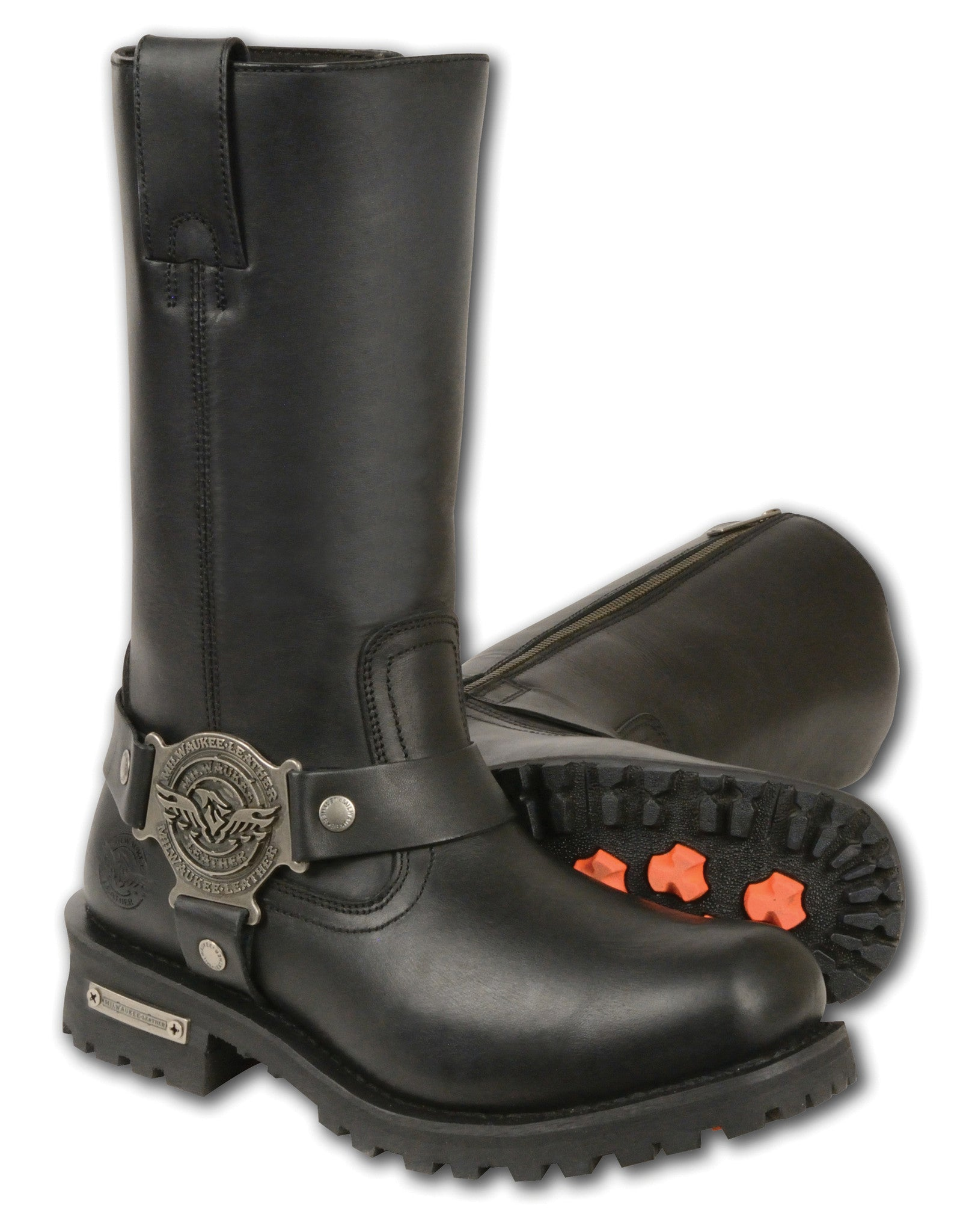 LADIES RIDING 11 INCH CLASSIC HARNESS SQUARE TOE LEATHER BOOT