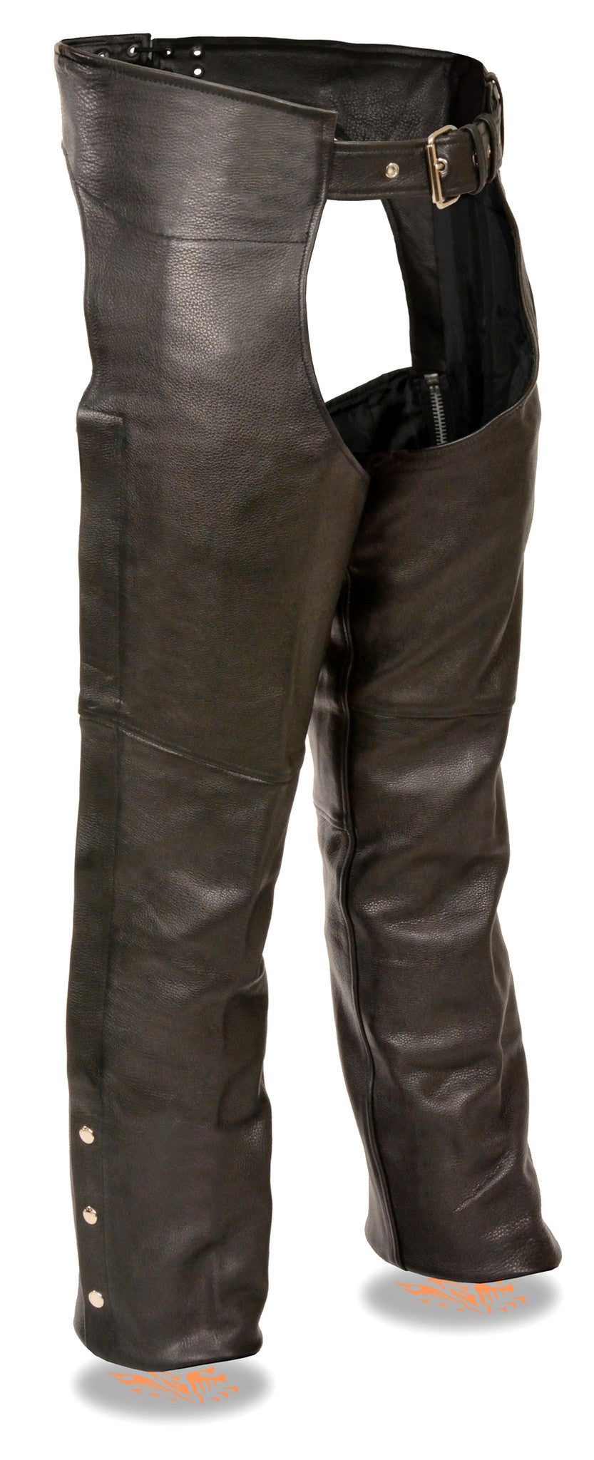 MEN'S MOTORCYCLE CLASSIC LEATHER RIDING CHAP