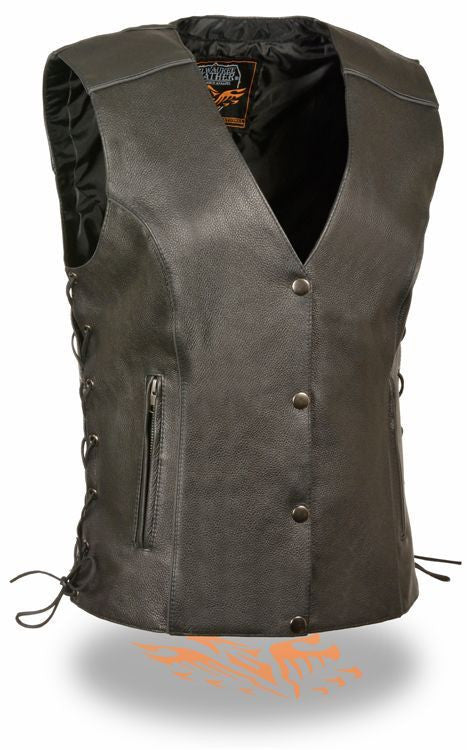 WOMEN'S RIDING LEATHER VEST BUTTER SOFT LEATHER