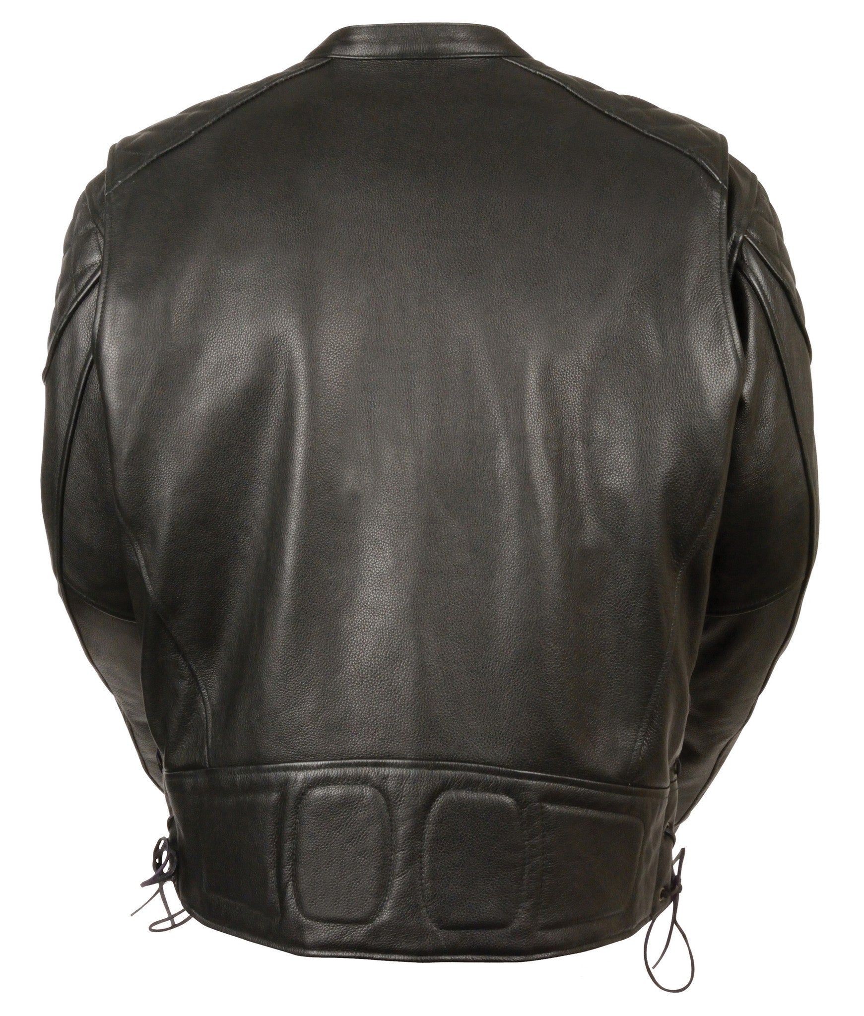 Men S Motorcycle Full Side Lace Leather Police Jacket