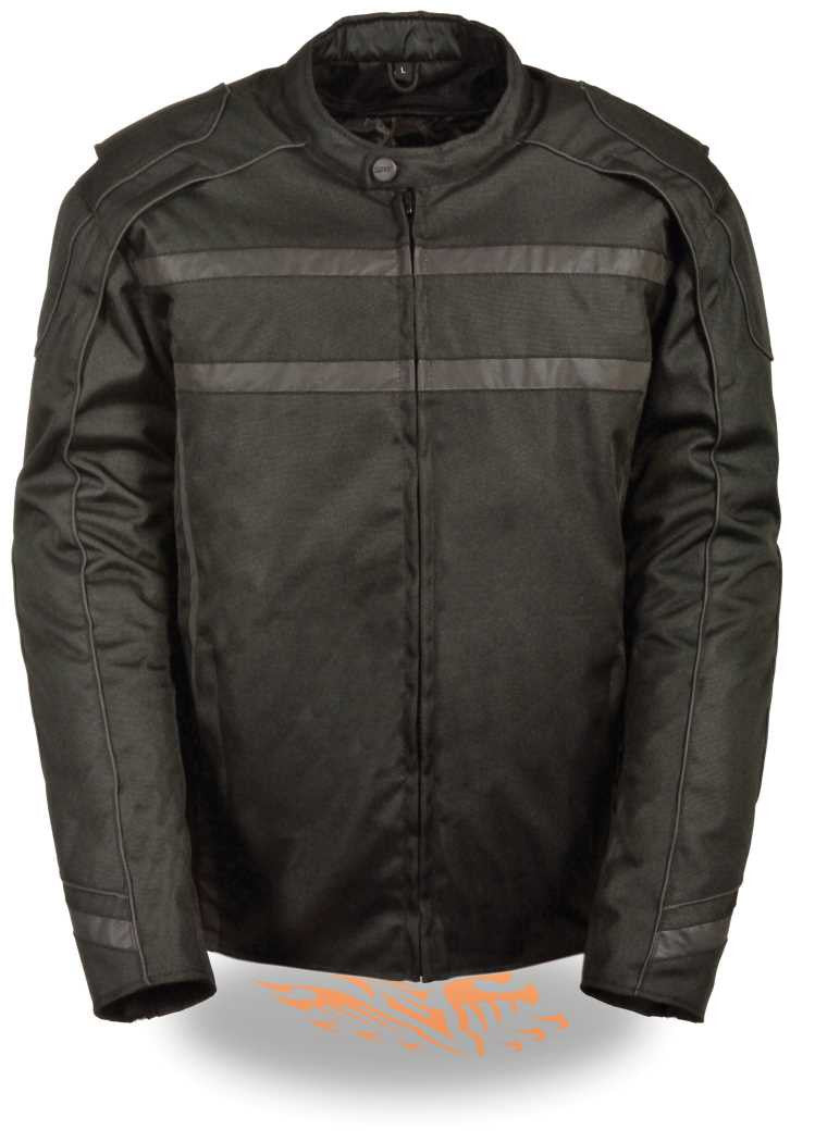 MEN'S VENTED NYLON TEXTILE JACKET W/ HIGHLY VISIBILITY