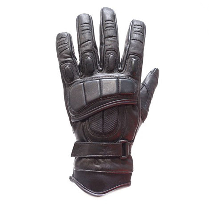 Men's Padded Premium Leather Racing Gloves With Tight Grip Strip