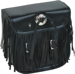 BRAIDED FRINGES SISSY BAR TRAVEL BAG LUGGAGE