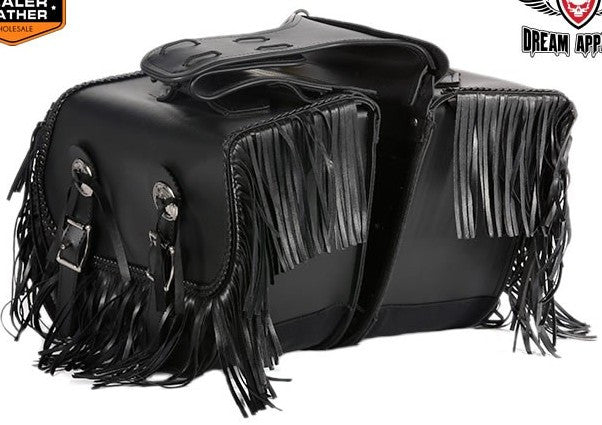 TWO PIECE PVC SADDLEBAG W/ TASSLES