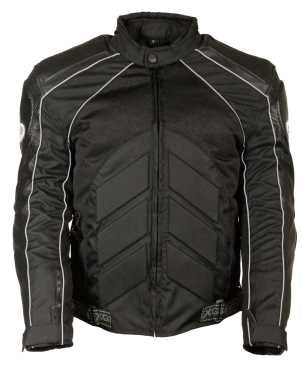 MEN'S MOTORCYCLE FULLY ARMOUR COMBO TEXTILE/ LEATHER JACKET