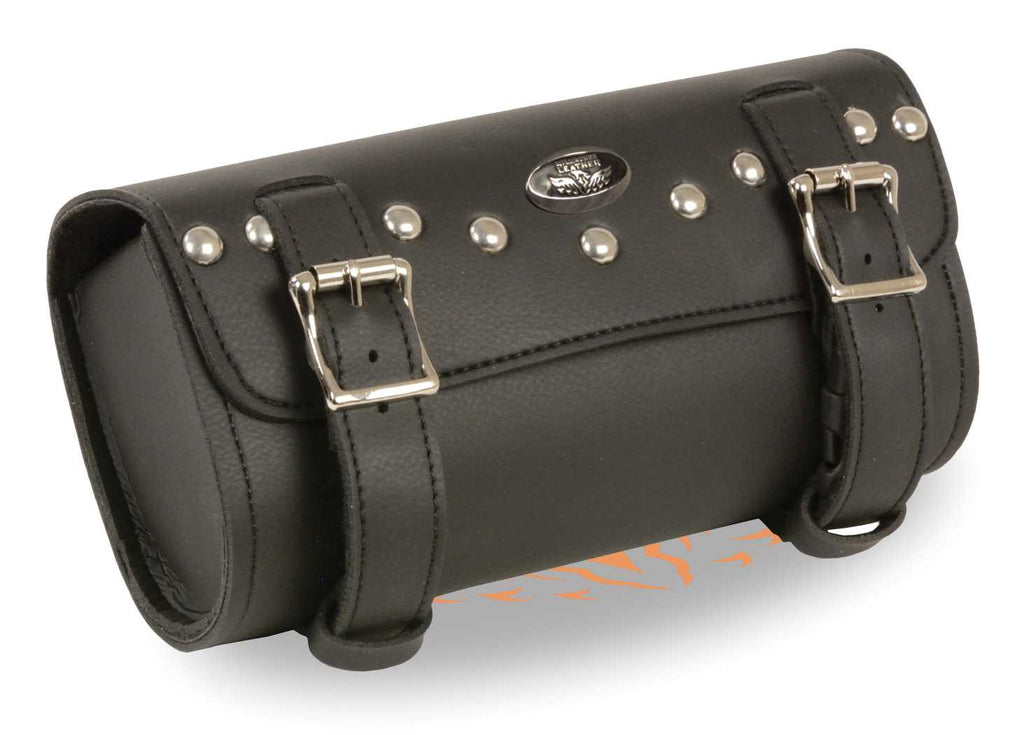 TWO STRAPS STUDDED TOOL BAG W/ QUICK RELEASE