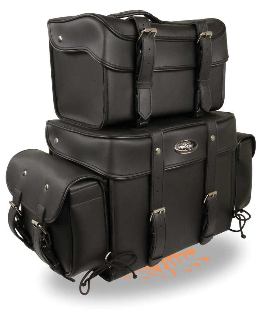 BLACK SISSY T BAR 4 PIECE TRAVEL BAG BAR LUGGAGE