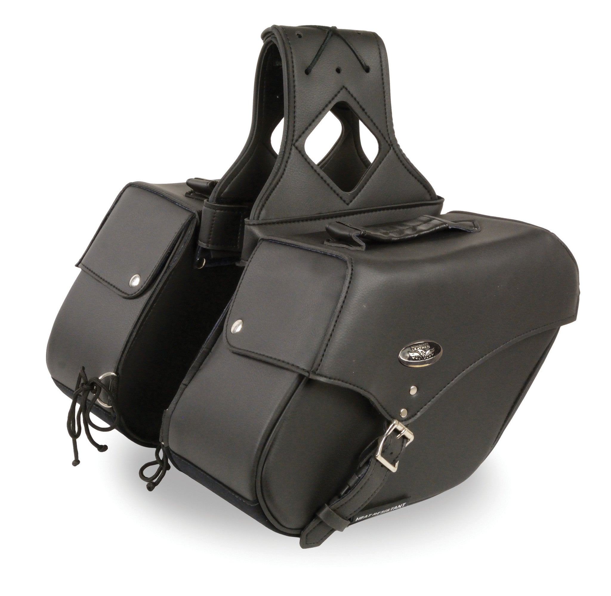 TWO PIECE WATERPROOF SADDLEBAG SINGLE STRAP REFLECTIVE PIPING