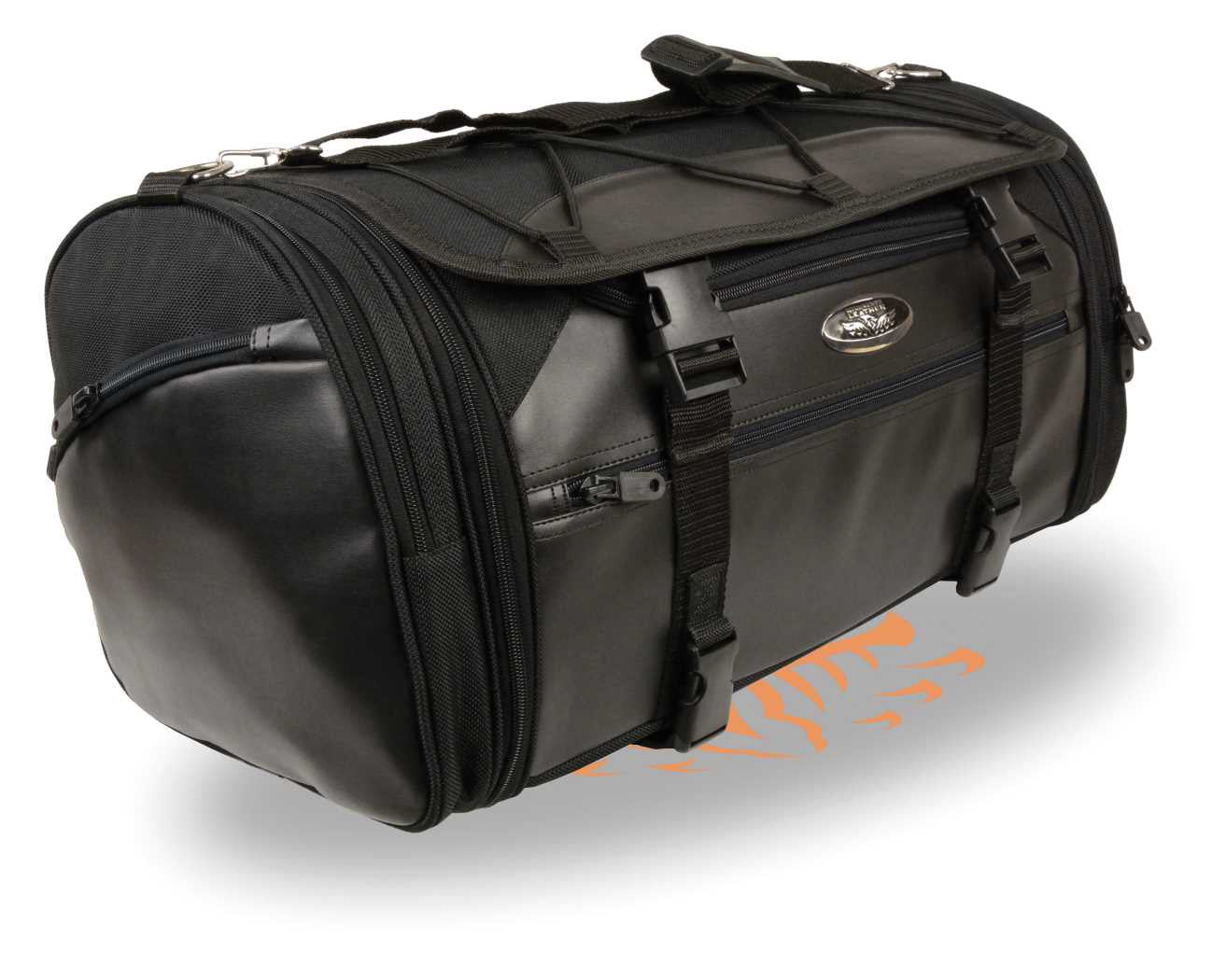 NYLON SISSY T BAR BAG TRAVEL BAG PLAIN LUGGAGE
