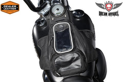 MOTORCYCLE MOTORBIKE STRONG MAGNETIC TANK BAG GPS WINDOW AT FRONT BLACK NEW
