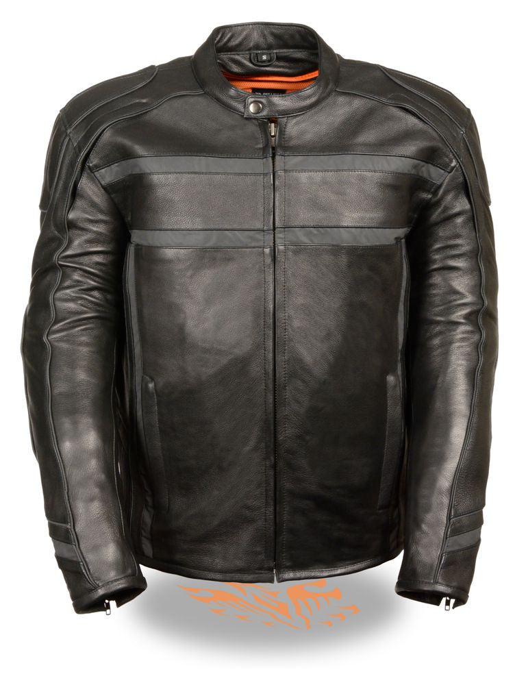 Men's Reflective Band & Piping Scooter Jacket