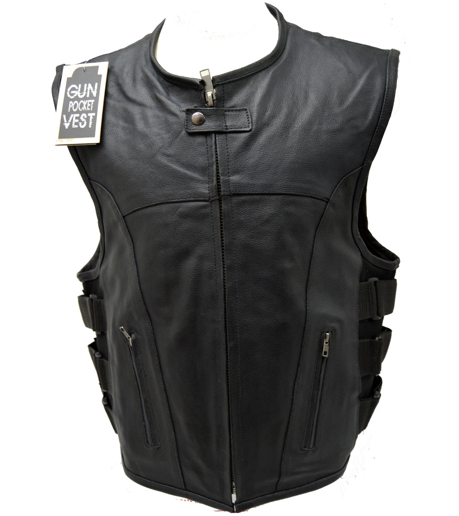 UPDATED TACTICAL SWAT STYLE LEATHER VEST