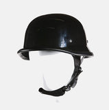MOTORCYCLE GERMAN NOVELTY HELMET W/ CHIN STRAP