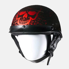 200 DOT APPROVED HELMET W/ BONEYARD BURGUNDY