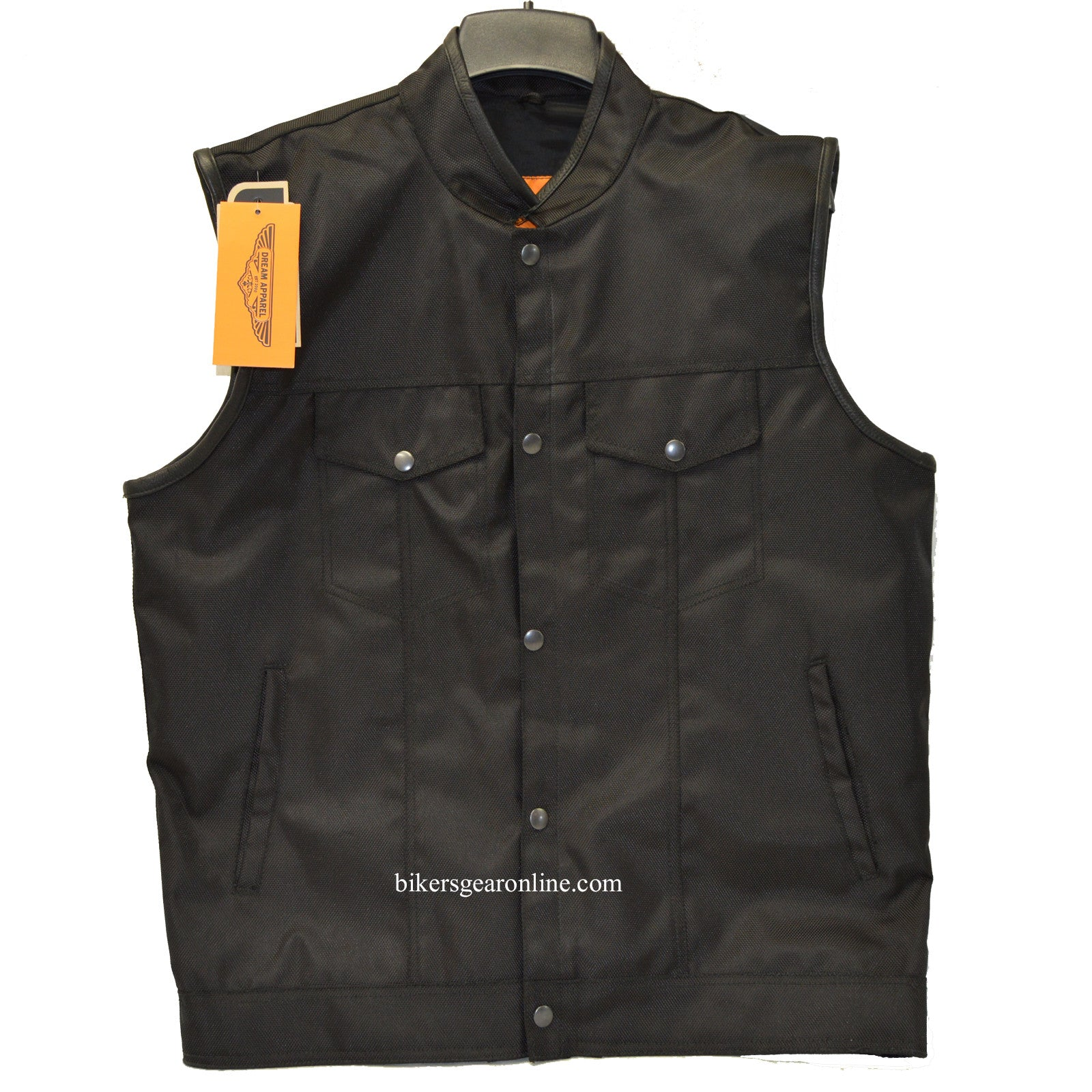 MEN'S SON OF ANARCHY STYLE TEXTILE VEST GUN POCKET