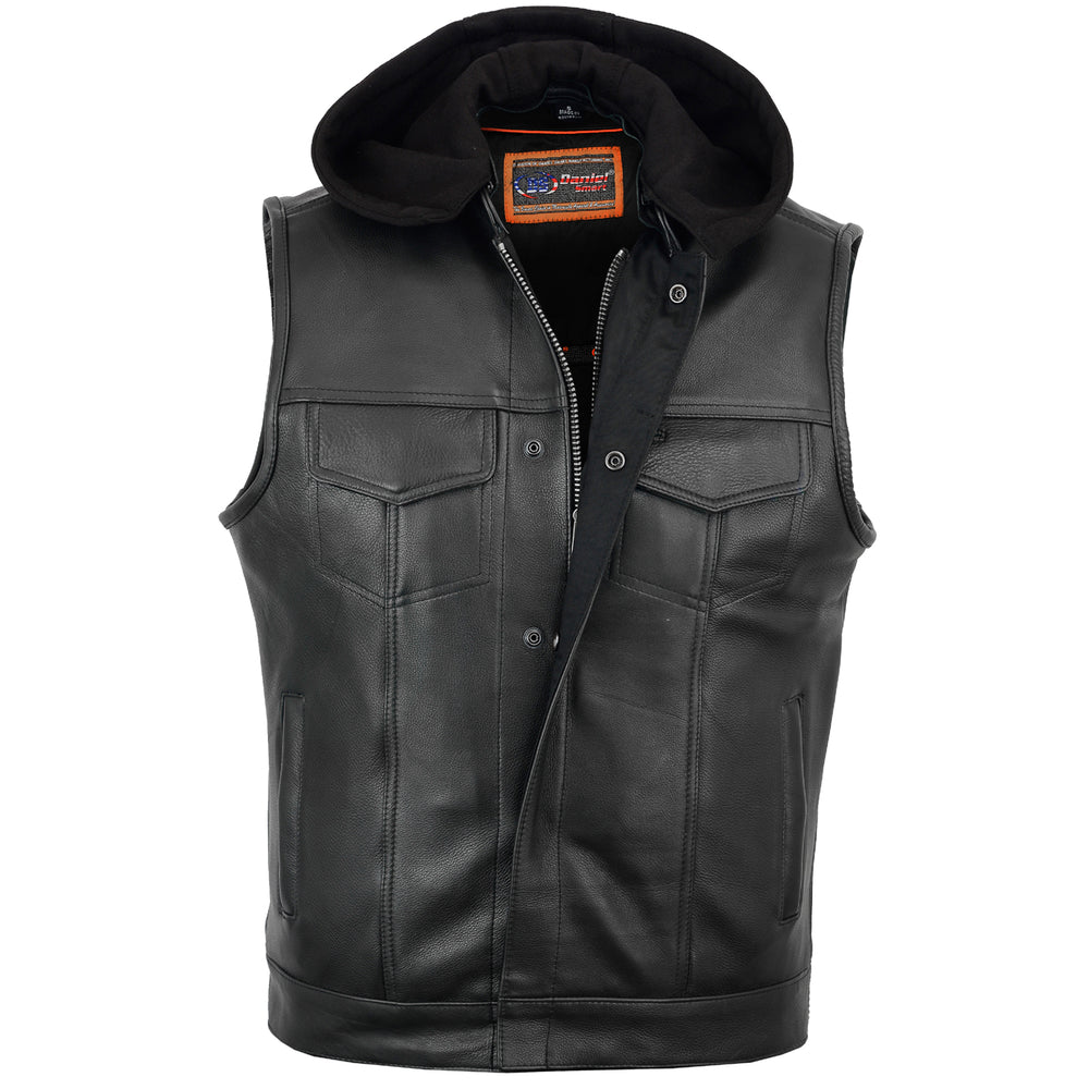 Concealed Snaps, Premium Naked Cowhide, Removable Hood & Hidden Zipper
