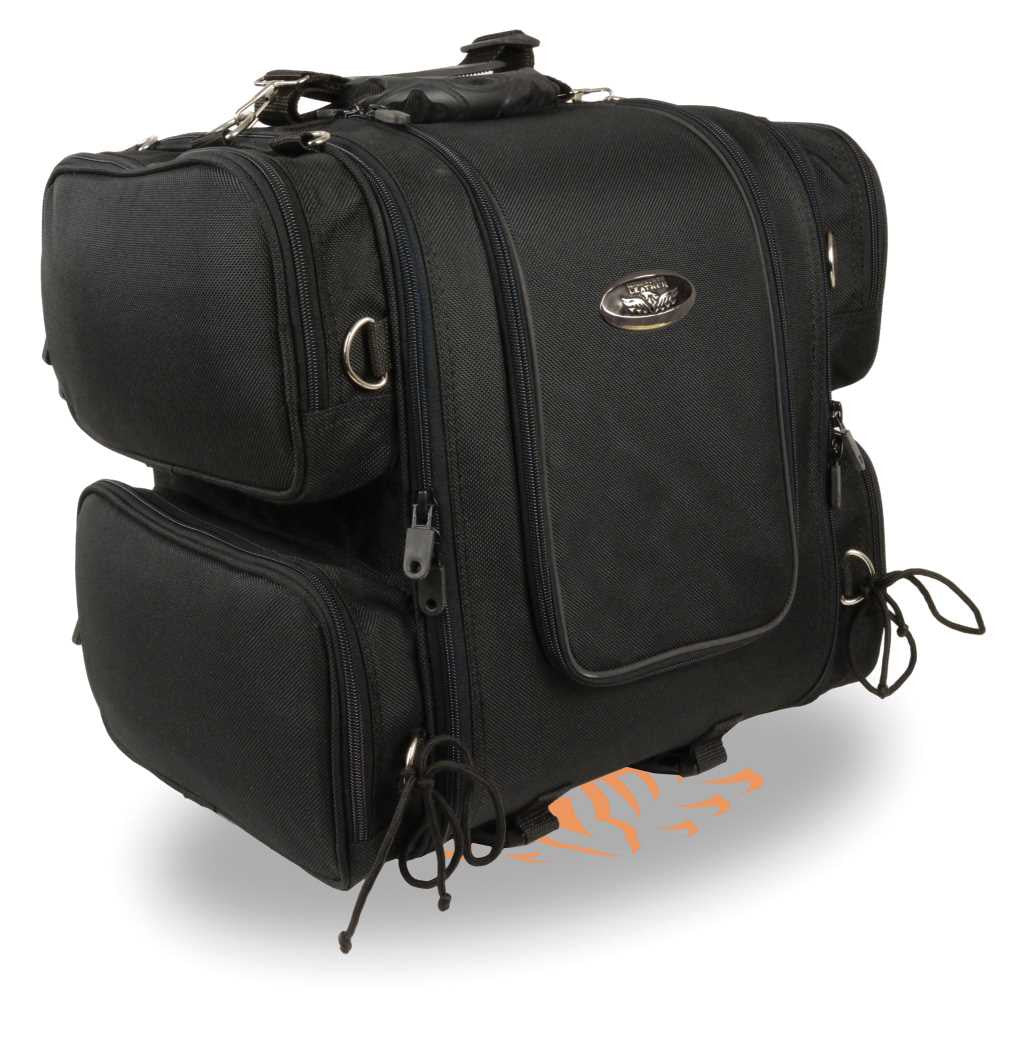 NYLON SISSY BAR TRAVEL BAG BACK PACK REFLECTIVE