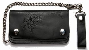 Leather Wallet With Embossed Eagle