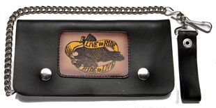Leather Wallet With Live 2 Ride, Ride 2 Live