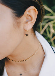 MAY MARTIN <br> Star Hoop Earrings - The Shop Laguna Beach