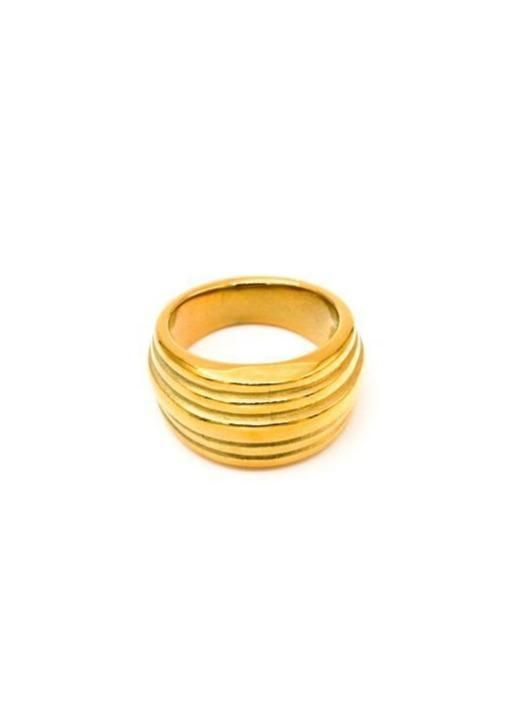 MAY MARTIN <br> Louie Gold-Dipped Ring - The Shop Laguna Beach