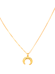 MAY MARTIN <br> Mini Crescent Moon Gold Fill Necklace - The Shop Laguna Beach