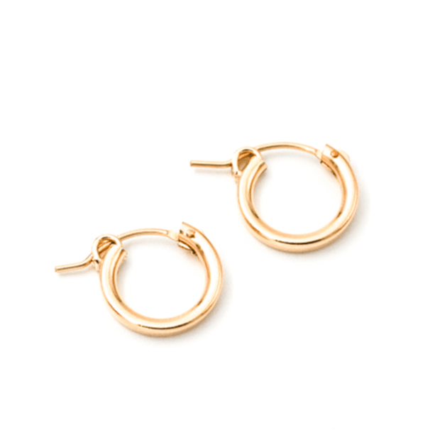 MAY MARTIN <BR> XS Hinge Hoops - The Shop Laguna Beach