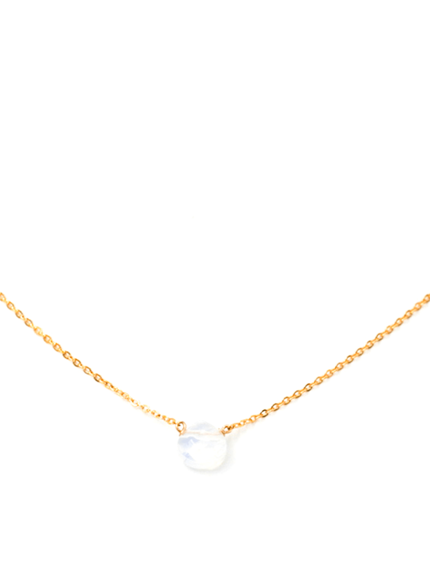MAY MARTIN <br> Opalite Teardrop Necklace - The Shop Laguna Beach