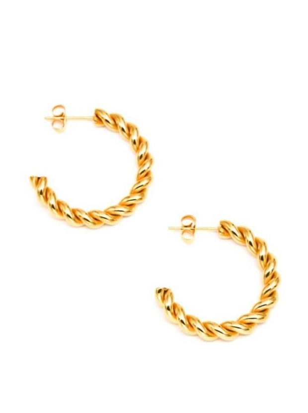 MAY MARTIN <br> Sarah Gold-Dipped Hoops - The Shop Laguna Beach
