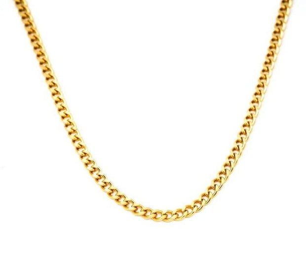 MAY MARTIN <BR> The Elliot Gold-Plated Mini Chain Necklace