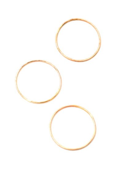 MAY MARTIN <BR> Hammered Gold Fill Stacking Ring - The Shop Laguna Beach
