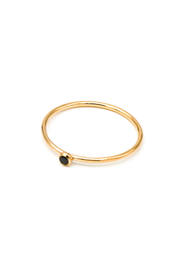 MAY MARTIN <BR> Black CZ Gold Fill Stacking Ring - The Shop Laguna Beach