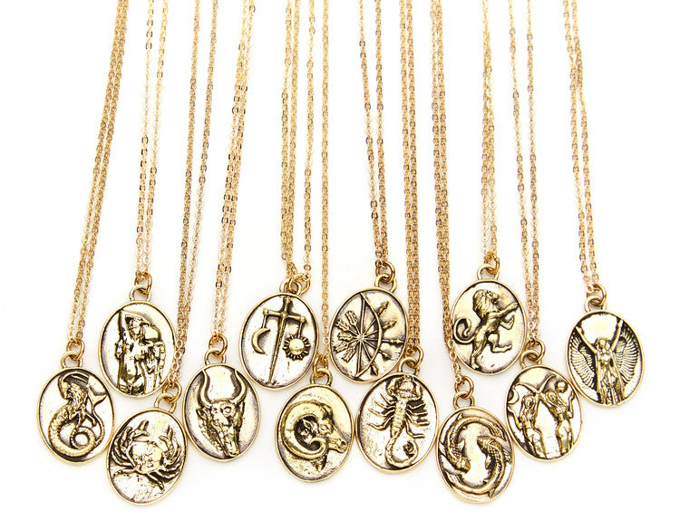 TALON NYC<BR>Gold-Plated Zodiac Pendant Necklace