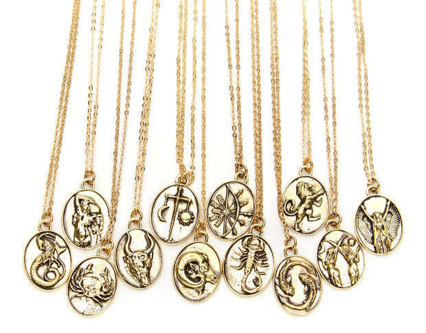 TALON NYC <BR> 14kt Gold-Plated Pendant Zodiac Necklace - The Shop Laguna Beach