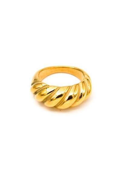MAY MARTIN <BR> C'est Gold Plated Ring - The Shop Laguna Beach