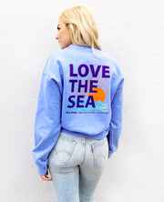 LOVE THE SEA <br> Bomber Crew Pullover <br><small><i> (More Colors Available) </i></small>
