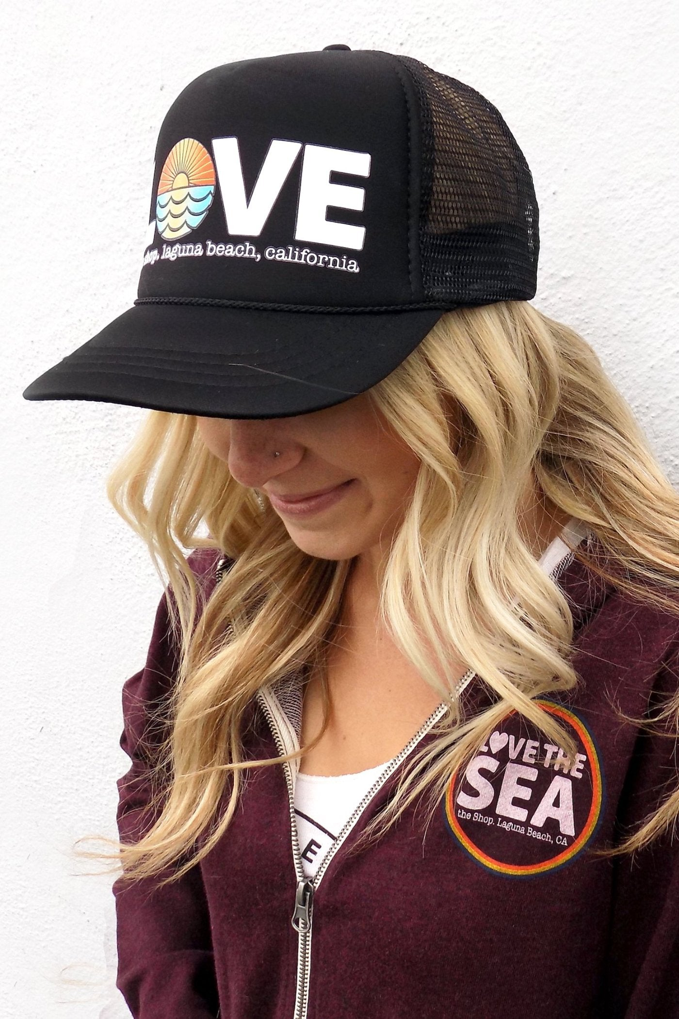 THE SHOP LAGUNA BEACH • LOVE THE SEA Original Trucker Hat – The Shop ... f7d3a3d494b