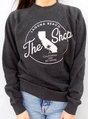 THE SHOP CLASSIC <BR> Pullover Crew Neck Fleece Sweatshirt <br><small><i> (More Colors Available) </i></small> - The Shop Laguna Beach