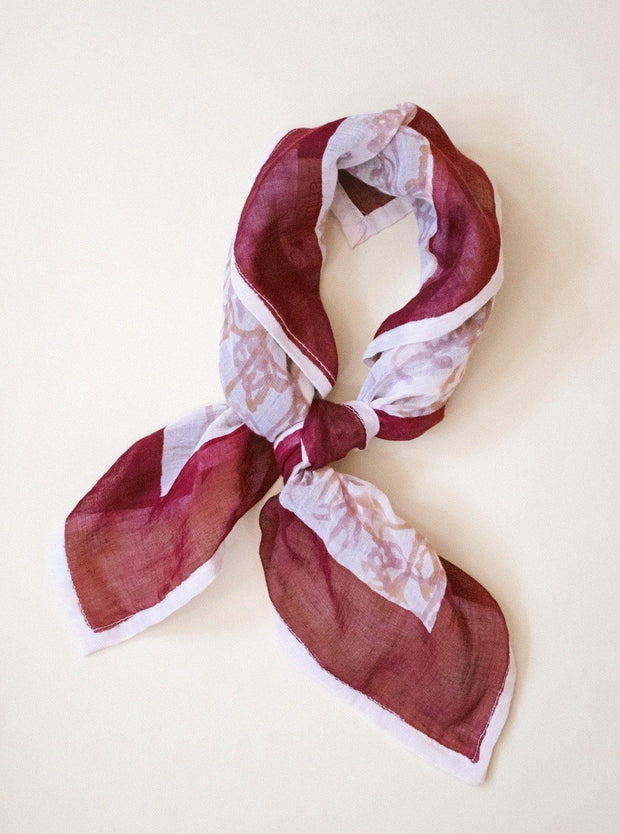 FROM MILA <BR> Printed Cotton Bandana Scarf <br><small><i> (More Colors Available) </small></i> - The Shop Laguna Beach